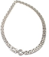 Cartier 18K White Gold 15ct Diamond Black Onyx Panthere Maillon Necklace