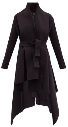 Norma Kamali Asymmetric Cotton-blend Coat - Black