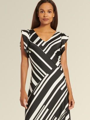 DKNY Donna Karan Women's Block Stripe Dress - Block Stripe Black - Size 0