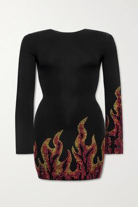 Alexandre Vauthier Crystal-embellished Stretch-jersey Mini Dress