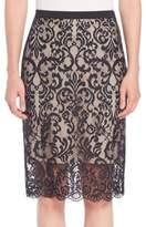 Elie Tahari Violet Lace Pencil Skirt