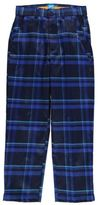 Slazenger Kids Check Golf Trousers Pants Bottoms Junior Boys Zip Pattern