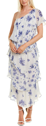 Rococo Sand Flourish Silk Midi Dress