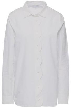 Ganni Olayan Scalloped Cotton-poplin Shirt