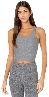 Beyond Yoga Keep It Simple Cropped Tank (Black Gunmetal Sparkle) Women's Clothing