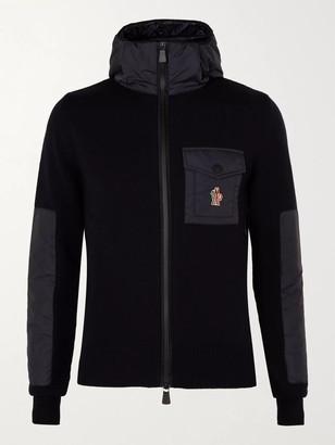 MONCLER GRENOBLE Panelled Merino Wool-Blend Hooded Jacket