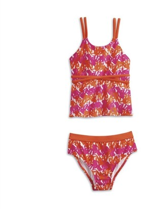 AMERICAN GIRL - Bright and Splashy Tankini for Girls - Size: 7 (More Sizes Available)