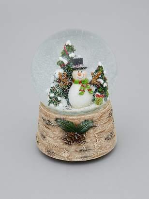 Gisela Graham Snowman Musical Snow Globe Christmas Decoration