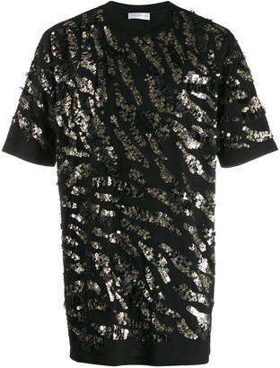 Faith Connexion oversized sequin-embellished T-shirt