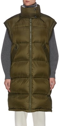 Army by Yves Salomon Tibet lamb fur collar technical puffer vest