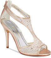 Caparros Hope Mesh Peep-Toe Evening Sandals