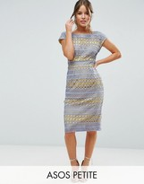 Asos Lace Wiggle Dress with Contrast Lining