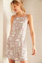 Silence & Noise Silence + Noise Ella Printed Crepe Shift Mini Dress