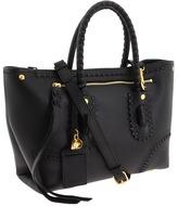 Alexander McQueen Folk Small Shopper (Tumbled Black Calf) - Bags and Luggage