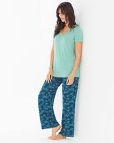 Soma Intimates Pajama Set Social Scene Wasabi RG