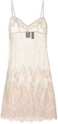 Rihanna Fenty By Mesh and lace slip dress