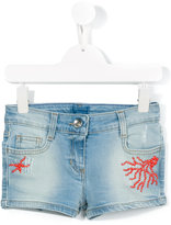 Miss Blumarine stud detail denim shorts - kids - Cotton/Polyester/Spandex/Elastane - 4 yrs