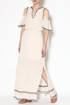 Moon River Bohemian Linen Maxi Dress