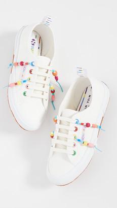 Mira Mikati x Beaded Fringe Sneakers