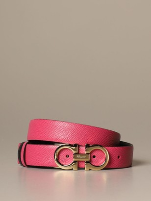 Salvatore Ferragamo Belt Gancini Belt In Reversible Leather