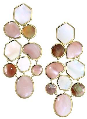 Ippolita Polished Rock Candy 18K Yellow Gold & Multi-Stone Mosaic Drop Earrings