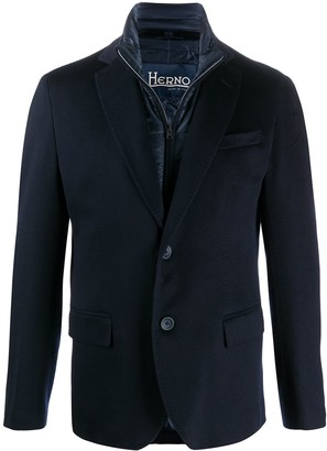 Herno Padded-Detail Single-Breasted Blazer