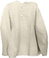 Yak & Yeti Mens Tunic Muslin Cotton Colored 3-button Loop Closure, Mandarin Collar (XLarge)