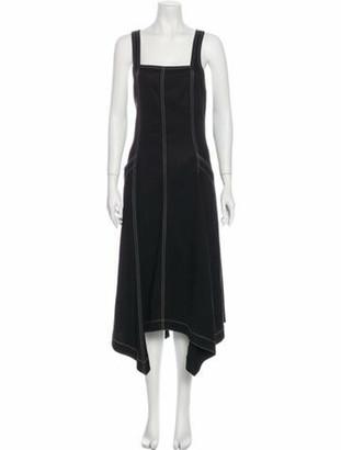 Ulla Johnson Square Neckline Long Dress Black
