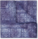 Brunello Cucinelli - Printed Silk And Cotton-blend Pocket Square