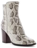 Donald J Pliner Sonoma Snake-Embossed Block Heel Boot