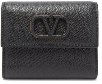 Valentino V-sling Leather Wallet - Black
