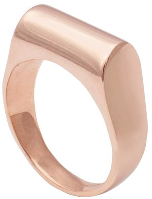 Edge Only High Top Ring In 14Ct Gold