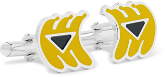 Prada Banana Silver-Tone And Enamel Cufflinks