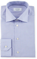 Eton Contemporary-Fit Small-Check Dress Shirt, Lavender