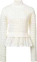 Rebecca Taylor macramé detail jumper - women - Cotton/Acrylic/Viscose/Wool - S
