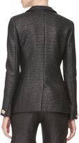 Versace Raffia One-Button Jacket, Black