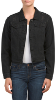 Juniors Stud Denim Jacket