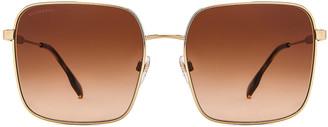 Burberry Jude B Stripe Sunglasses in Dark Spotted Tortoise & Dark Brown Gradient   FWRD