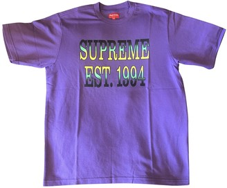 Supreme Purple Cotton T-shirts