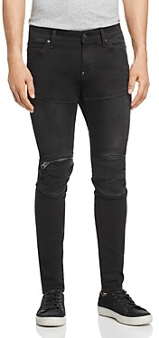 G Star 5620 3D Zip-Knee Skinny Fit Jeans in New Dark Aged