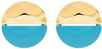 Monica Sordo x Gala two tone round earrings