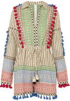 Dodo Bar Or Tasseled Striped Cotton-gauze Playsuit