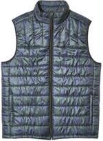 Joe Fresh Men's Plaid Puffer Vest, JF Jag Green (Size XL)