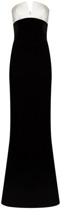 Rasario Two-Tone Strapless Gown