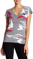 True Religion Deep V-Neck Camo Tee