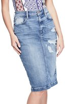 GUESS Women's Denim Pencil Skirt
