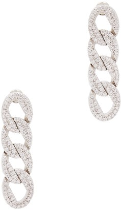 Fallon Curb Pave Crystal-embellished Drop Earrings