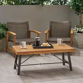 Berghauser Solid Wood Coffee Table Gracie Oaks