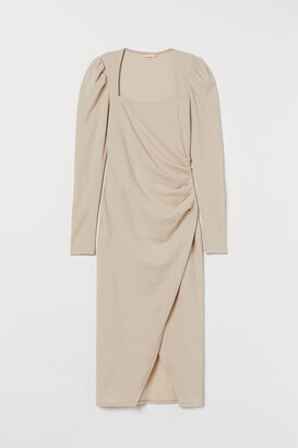 H&M Draped Dress - Beige