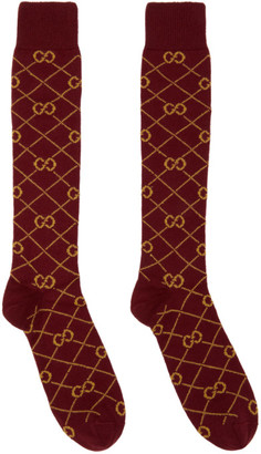 Gucci Red and Yellow GG Socks
